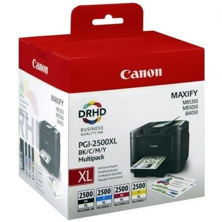 Cartucho de Tinta Original Canon PGI-2500XL Multipack Alta Capacidad/ Cian/ Magenta/ Amarillo/ Negro