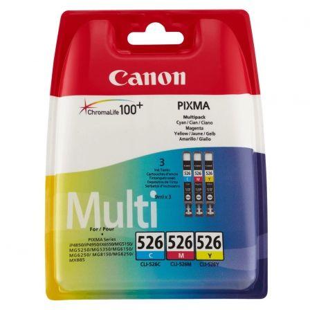 Cartucho de Tinta Original Canon CLI-526 Multipack/ Cian/ Magenta/ Amarillo/ Negro
