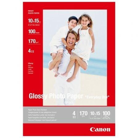 Papel Fotográfico Canon GP-501/ 10 x 15cm/ 170g/ 100 Hojas/ Brillante
