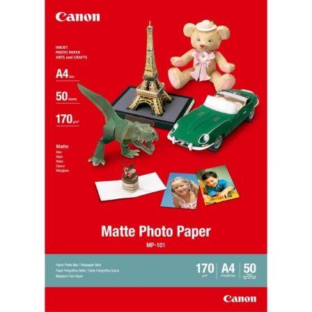 Papel Fotográfico Canon MP-101/ DIN A4/ 170g/ 50 Hojas/ Mate