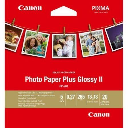 Papel Fotográfico Canon PP-201/ 13 x 13cm/ 265g/ 20 Hojas/ Brillante