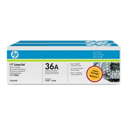 Tóner Original HP nº36A Multipack/ 2x Negro