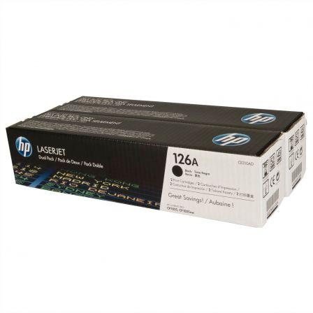 Tóner Original HP nº126A/ 2x Negro