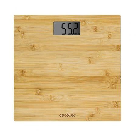 Báscula de Baño Cecotec Surface precision 9300 Healthy/ Hasta 180kg/ Bambú