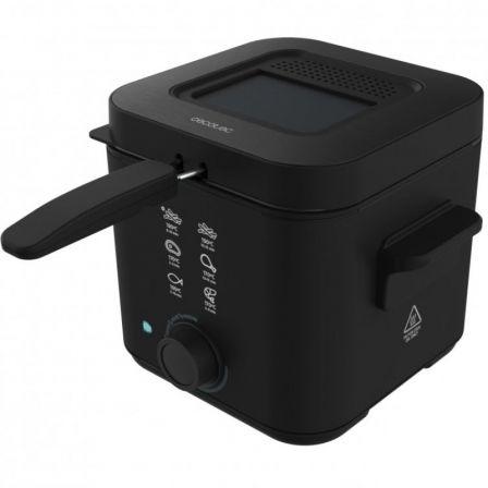 Freidora Cecotec CleanFry Infinity 1500 Black/ 900W/ Capacidad 1.5L