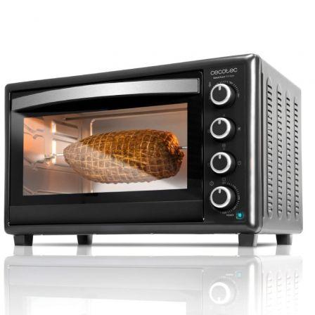 Horno de Sobremesa Cecotec Bake and Toast 750 Gyro/ 2000W/ Capacidad 46L/ Función Grill/ Negro