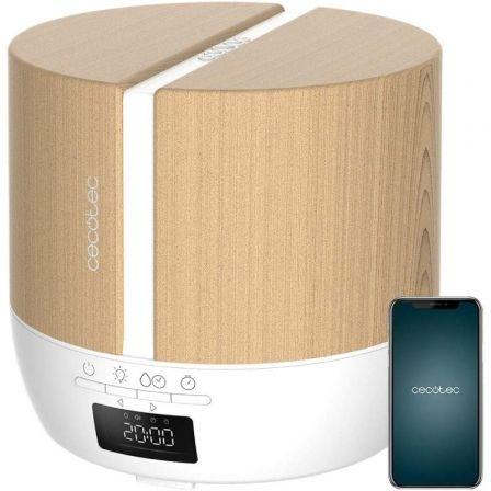 Humidificador con Altavoz Cecotec Pure Aroma 500 Connected White Woody/ Capacidad 500ml