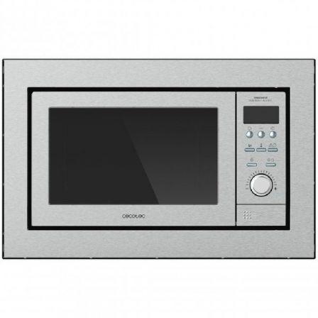 Microondas Encastrable Cecotec GrandHeat 2500 Built-In/ 900W/ Capacidad 25L/ Función Grill/ Acero