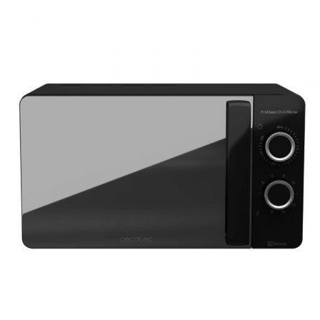 Microondas Cecotec ProClean 3140 Mirror/ 700W/ Capacidad 20L/ Función Grill/ Negro