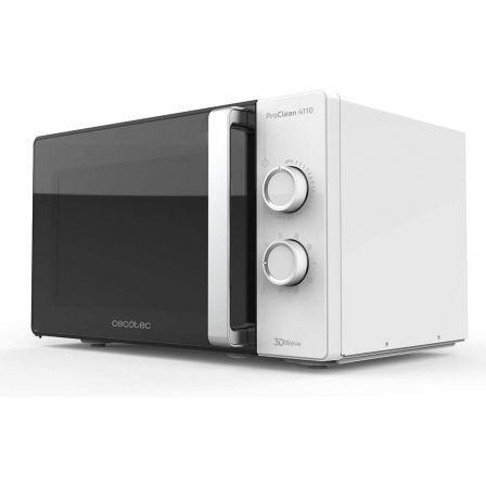 Microondas Cecotec ProClean 4110/ 700W/ Capacidad 23L/ Función Grill/ Blanco y Negro