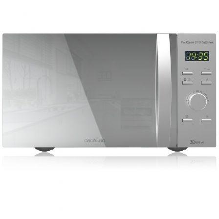 Microondas Cecotec ProClean 8110/ 1000W/ Capacidad 28L/ Función Grill/ Acero Inoxidable