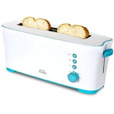 Tostador Cecotec Toast and Taste 1L/ 1000W/ Blanco