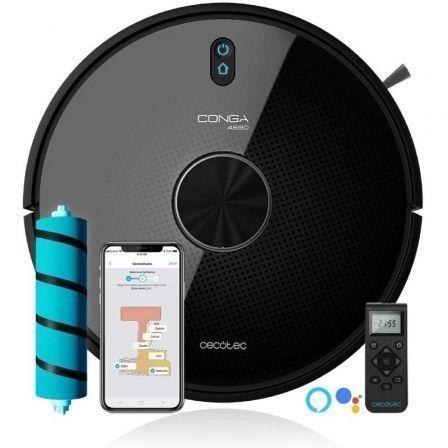 Robot Aspirador Cecotec Conga 4690 Ultra/ Friegasuelos/ Autonomía 300 Min/ control por WiFi