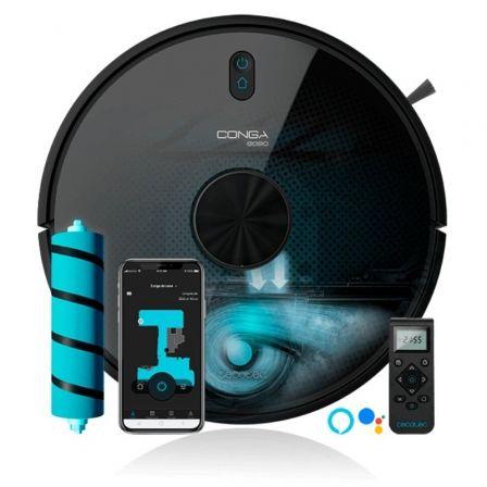 Robot Aspirador Cecotec Conga 6090 Ultra/ Friegasuelos/ Autonomía 240 Min/ control por WiFi