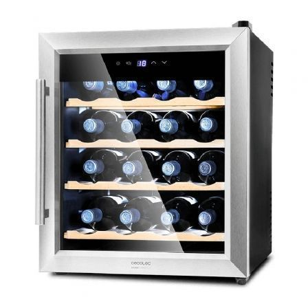 Vinoteca Cecotec Grand Sommelier 1600 SilenceWood/ 16 Botellas