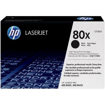 Tóner Original HP nº80X XL Alta Capacidad/ Negro
