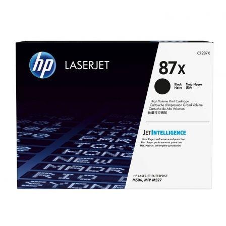 Tóner Original HP nº87X XL Alta Capacidad/ Negro