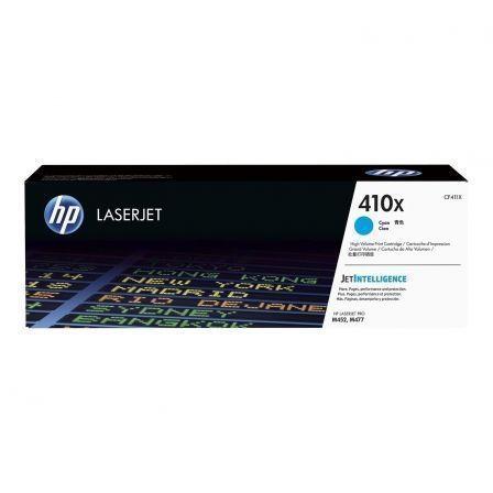 Tóner Original HP nº410X XL Alta Capacidad/ Cian