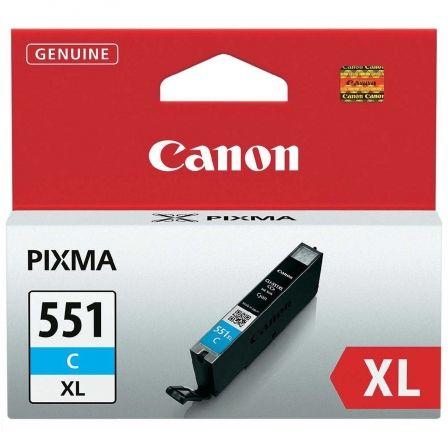 Cartucho de Tinta Original Canon CLI-551C XL Alta Capacidad/ Cian