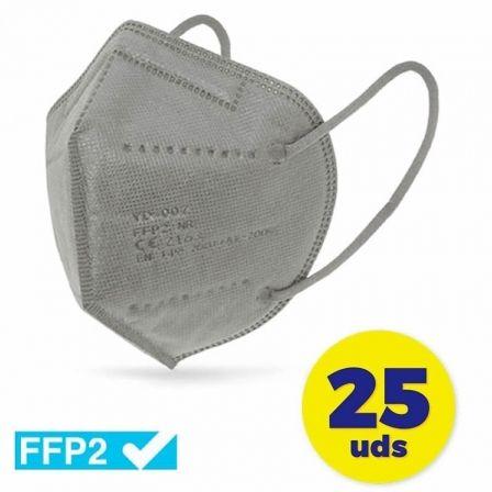 Mascarillas FFP2 Club Náutico / Pack 25 uds/ Gris