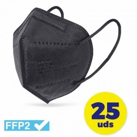 Mascarillas FFP2 Club Náutico/ Pack 25 uds/ Negra