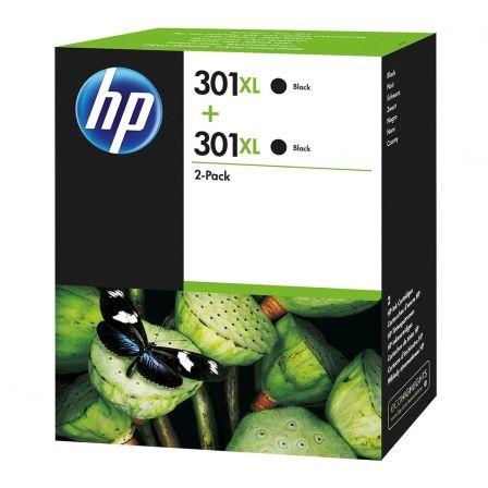 Cartucho de Tinta Original HP nº301 XL Alta Capacidad Multipack/ 2x Negro