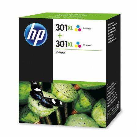 Cartucho de Tinta Original HP nº301 XL Alta Capacidad Multipack/ 2x Tricolor