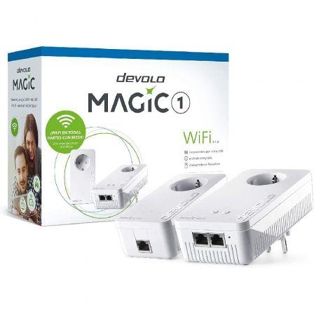 Adaptador Powerline Devolo Magic 1 WiFi 1200Mbps/ Alcance 400m/ Pack de 2