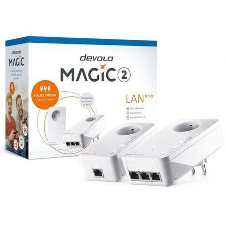Adaptador Powerline Devolo MAGIC 2 LAN 2400 Mbps/ Pack 2