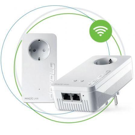 Adaptador Powerline Devolo Magic 2 WiFi next 2400Mbps/ Alcance 500m/ Pack de 2