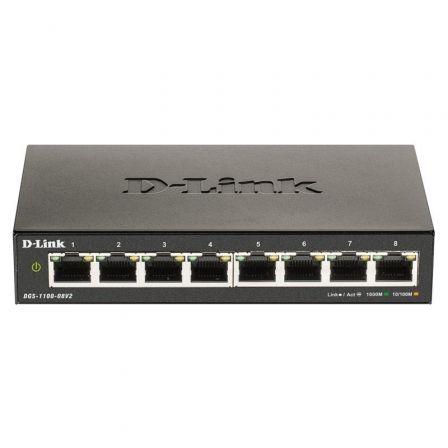 Switch Gestionable D-Link DGS-1100-08V2 8 Puertos/ RJ-45 10/100/1000