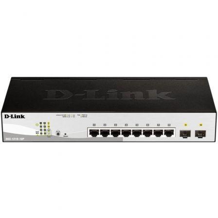 Switch D-Link DGS-1210-10P 8 Puertos/ RJ-45 Gigabit 10/100/1000 PoE/ SFP