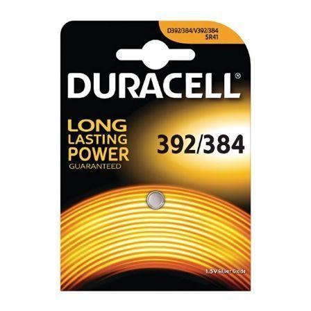 Pila de Boton Duracell 1.5V D392/384 SR41oxido de placa D392