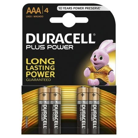 Pack de 4 Pilas AAA Duracell Plus Power LR03/ 1.5V/ Alcalinas
