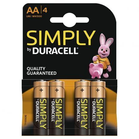 Duracell Simply MN1500B4S - batería - 4 x tipo AA Alcalino