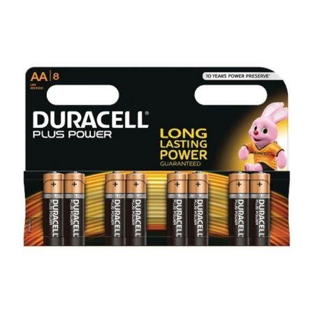 Pack de 8 Pilas AA Duracell Plus Power MN1500B8/ 1.5V/ Alcalinas