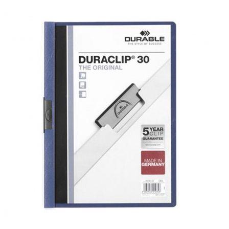 Dossier Durable Duraclip 142200-07/ A4 30 Hojas/ Azul Oscuro