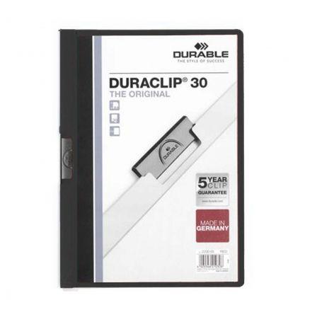Dossier Durable Duraclip 142200-01/ A4 30 Hojas/ Negro