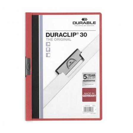 Dossier Durable Duraclip 142200-03/ A4 30 Hojas/ Rojo