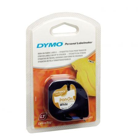 Cinta Rotuladora Adhesiva de Plástico Dymo 18769/ para Letratag/ 12mm x 2m/ Negra-Blanca