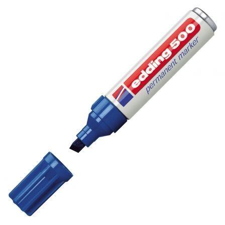 Rotulador Permanente Edding 500/ 2mm/ Azul
