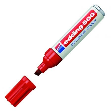 Rotulador Permanente Edding 500/ 2mm/ Rojo