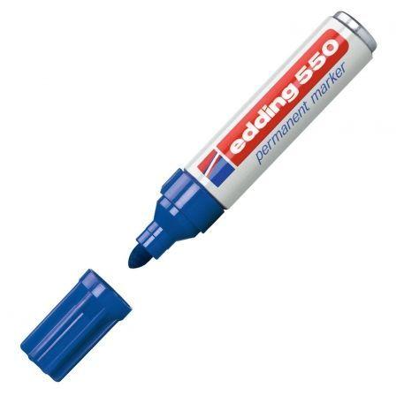 Rotulador Permanente Edding 550/ 3mm/ Azul