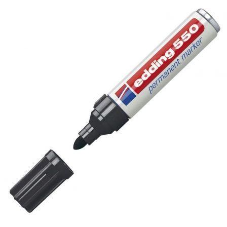 Rotulador Permanente Edding 550/ 3mm/ Negro
