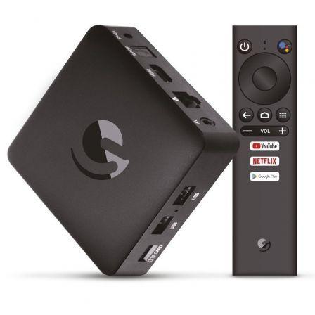 4K UHD Android TV, Bluetooth 4.2, 2 GB RAM, 8 GB Flash, Micro SD, Wi-Fi, 2x USB, Negro