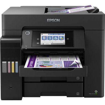 Multifunción Recargable Color Epson Ecotank ET-5850 WiFi/ Fax/ Dúplex/ Negra