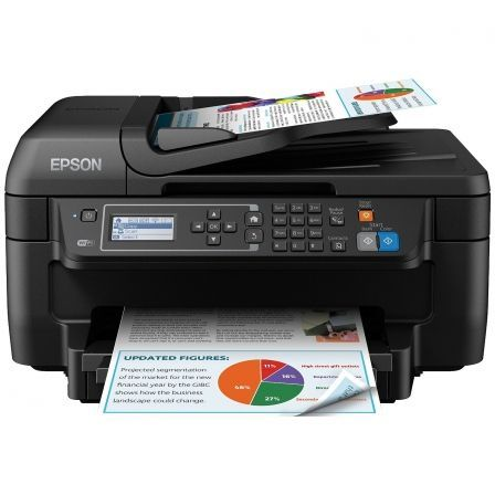 MULTIFUNCIÓN EPSON WIFI CON FAX WORKFORCE WF-2750DWF - 33/20 PPM BORRADOR - DUPLEX - SCAN 1200X2400PPP - USB - CART. 16 BK/C/M/Y /XL