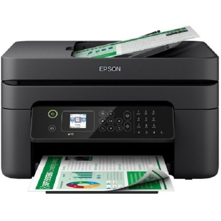 MULTIFUNCIÓN EPSON WIFI CON FAX WORKFORCE WF-2830DWF - 33/18 PPM - SCAN 1200*2400PPP - USB - CART. 603 BK/C/M/Y /XL