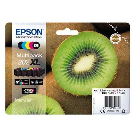 Cartucho de Tinta Original Epson nº202 XL Alta Capacidad Multipack/ Negro/ Negro Fotográfico/ Amarillo/ Cian/ Magenta