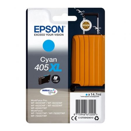 Cartucho de Tinta Original Epson nº405 XL Alta Capacidad/ Cian
